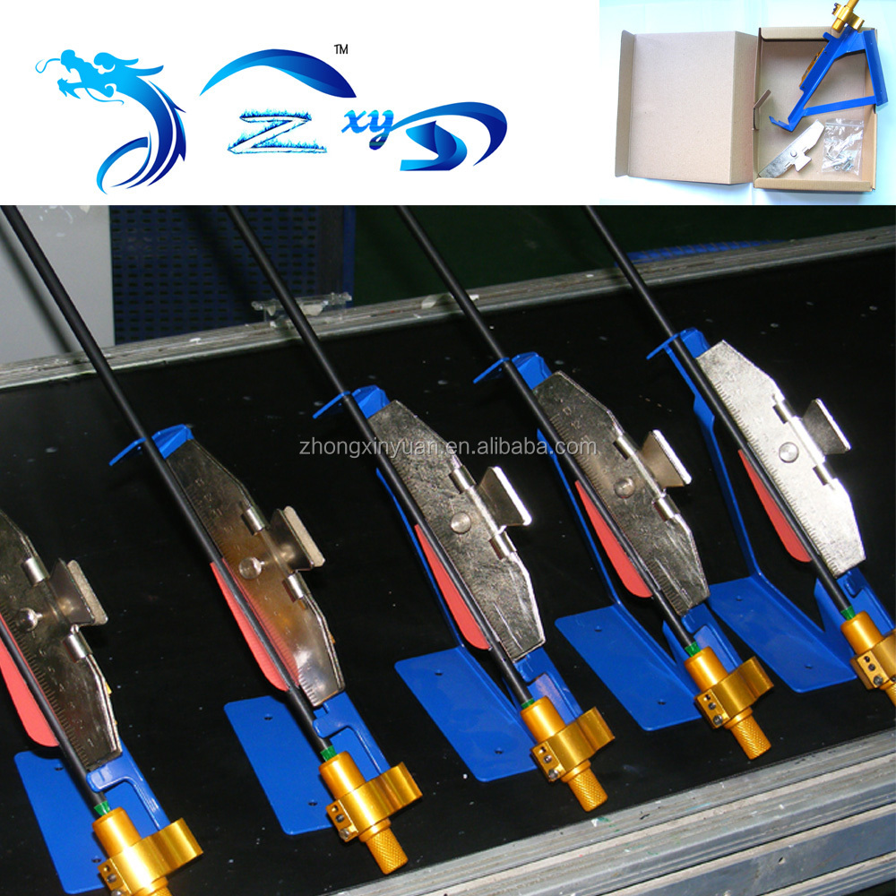 High quality durable machine archery accessories for sticking arrow feathers silver fletching jig