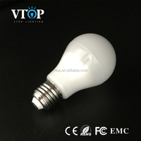 2016 High Brightness High Power Efficiency style energy saving e27 7w led lighting bulb