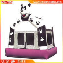 commercial pvc panda bear inflatable bouncer / kids used inflatable jumping bouncy castle for sale