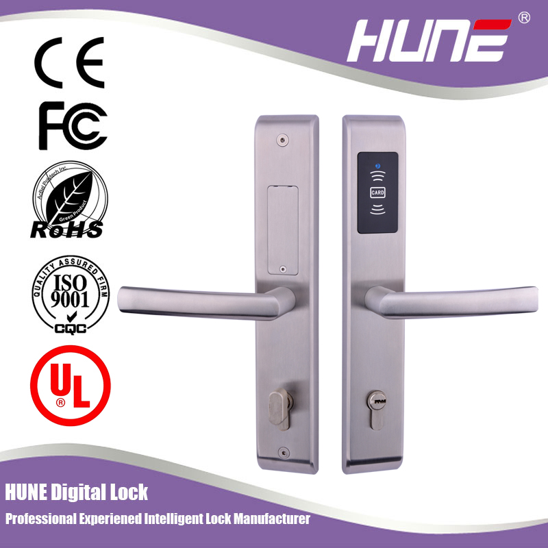 fireproof digital card key door lock with access control system