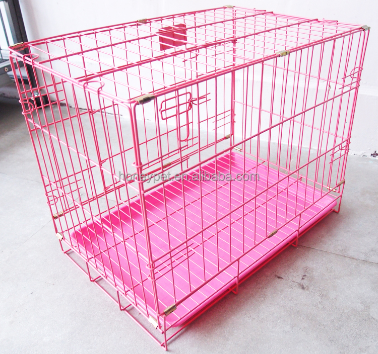 "24"" Puppy welded Crate dog Cage Kennel 2 Doors Training Small Folding Wire Dog x 2"