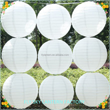 12 inch 30cm Chinese white round paper lanterns for wedding