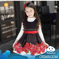 Best selling products wholesale classical flower baby clothes winter wedding girls' dress