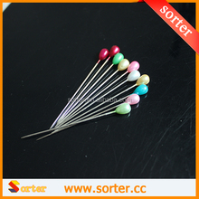 head pin for shirt / round colorful Pearl Head Pin
