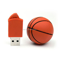 Basketball pvc usb flash drive&protable ball shape pendrive memor stick for promotion
