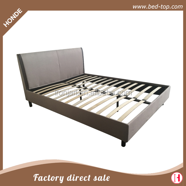 New Bedroom Furniture Fabric Platform Double Bed With Unpickable And Washable Surface