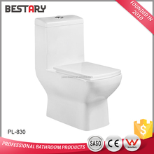 Good price one piece siphonic flushing ceramic S-trap bathroom toilet