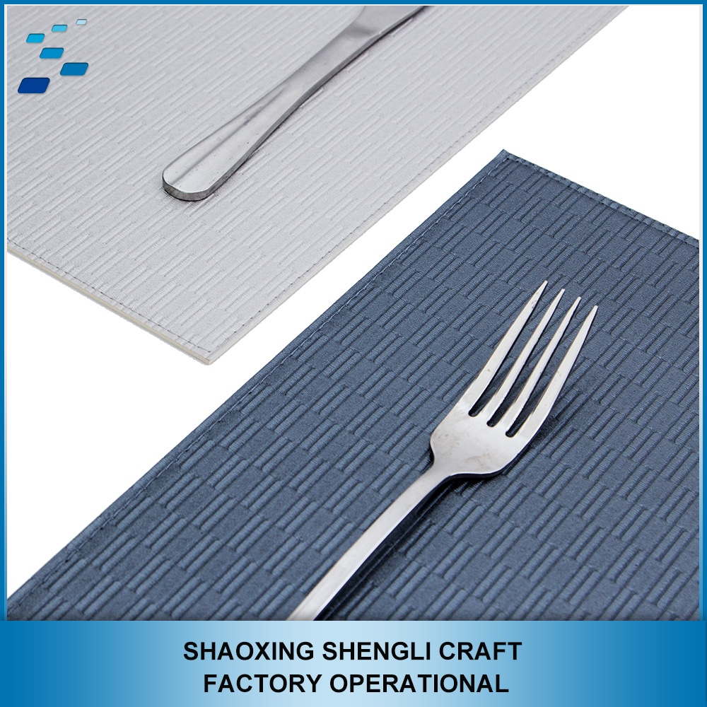 Custom size high quality non-slip one piece table pvc placemat