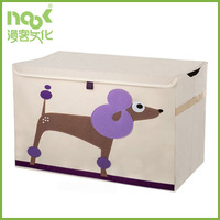 Toy storage box with window children sundries cartoon image