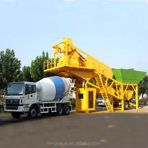 75m3/h mobile production capacity ready mixed wet mix low cost concrete batching plant