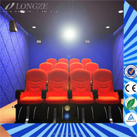 Factory Price multi-seats cinema equipment Removable Easy high income 5d movie six seats