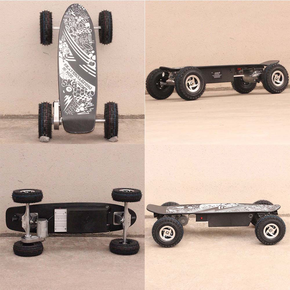 new design 4 wheeler electric longboard with koowheel