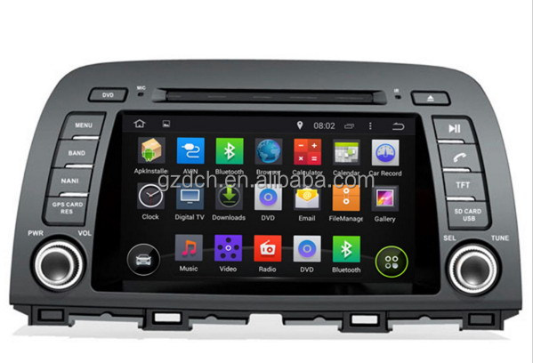 4.4.4 android car video dvd for MAZDA 6 / ATENZA 2013-1024*600 quad core 1G+16G WS-9525