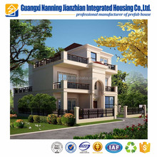 China luxurious modern prefab light steel frame modular house villa prefab house for sale