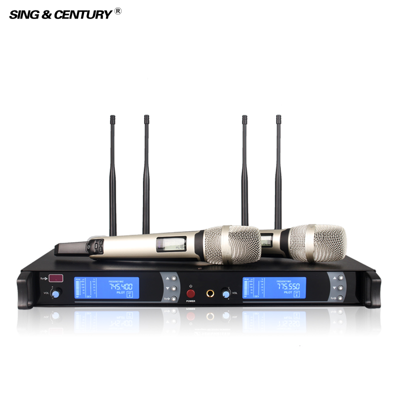 Best SKM9000 True Diversity Four Antennas wireless microphone karaoke