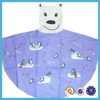 new fashion design waterproof breathable pvc kids rain poncho