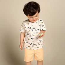 Fashion short cotton eco-friendly full printing o-neck baby t-shirts