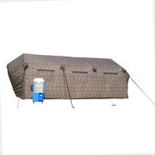 military high quality inflatable tent dark grey meeting tent inflatable room with hot welded tube