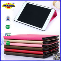 For IPad Mini Pearl Leather Case Standing Whole Cover Folding Case for Apple iPad Mini -Laudtec