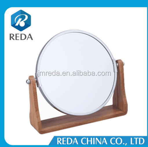 Double Side Table Style Wooden Hand Mirrors