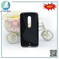 Fashion S line tpu material mobile phone case cover for motorola moto x 3