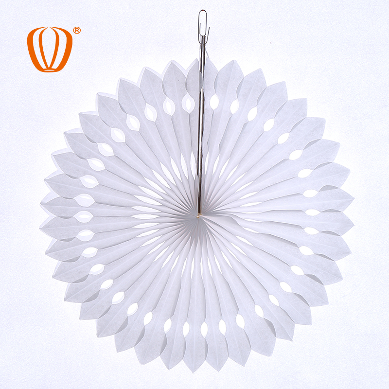 wedding hanging chinese 30cm paper fan