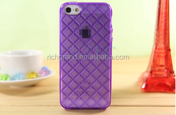 Beautiful diamond 3D crystal TPU mobile phone case for iphone 5 5s