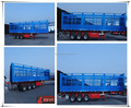 fence cargo trailer with three axles double tires