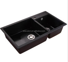 Quartz stone high quality standard size sink for kitchen,Undermount Double Bowl Quartz Stone Kitchen Sink