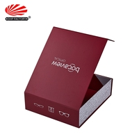 Storage Rigid Cardboard Collapsible Magnetic Closure Gift Packaging Foldable Customized Box With Lid