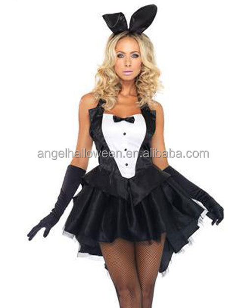 Newest Product Top Sale Ladies Popular Party Halloween Carnival Sexy Bunny Costume AGC4216