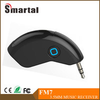 3.5mm jack Bluetooth Music receiver with Hands-free function for iPhone, iPad, Samsung,Nokia, smart phone,Speaker FM7