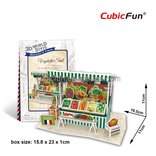Mini 3d puzzle of France--Vegetable Stall