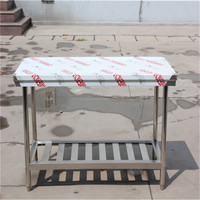 Kitchen equipment stainless steel worktable 1.5meter/SS working table