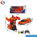 DD0401711 Remote control car with body action figure toy robot with light sound