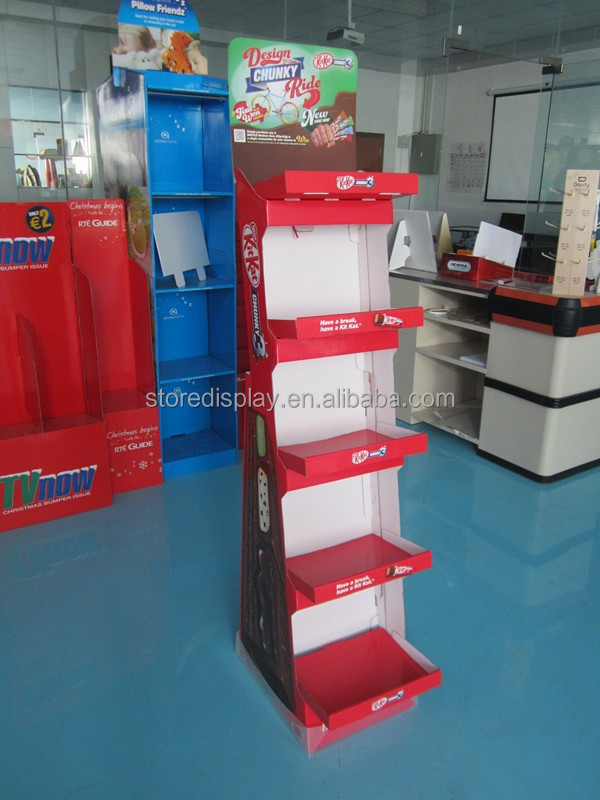 Smallware Floor Stand Display With Customized Printing And Promotion Information