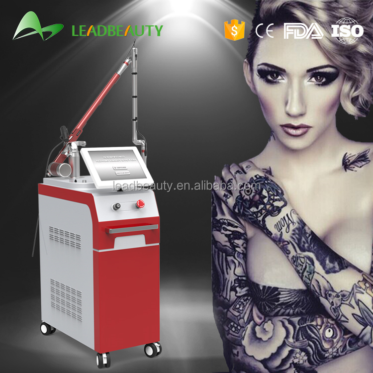 Professional Nd Yag Laser remove pigment and tattoo equipment