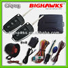 gsm car alarm system with remote engine starter BIGHAWKS CA703-8118 vw auto security flick key A6L flip case