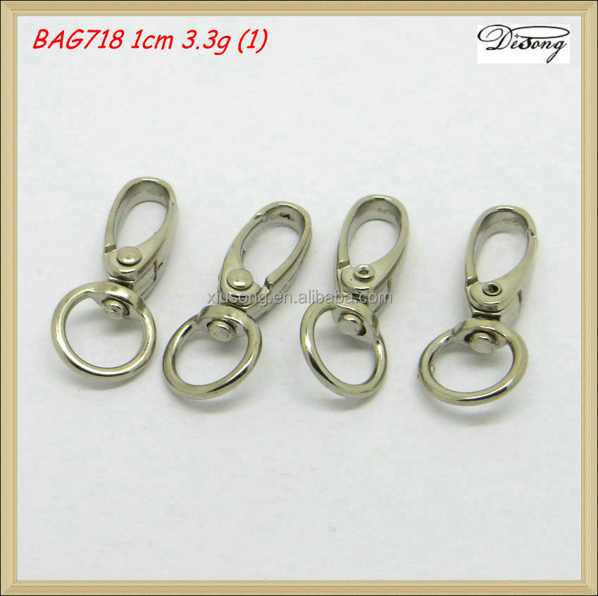 BAG718 Bag Metal Accessories Parts of brass Dog Swivel Snap Hook for handbag