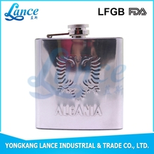 welding machinery / warped laser welding hip flask with patch logo