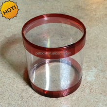 China manufacture PP PET PVC transparent plastic cylinder round clear plastic tube packaging box