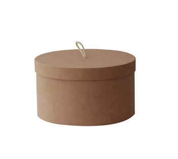NAHAM Wholesale cardboard linen paper round shaped paper hat box