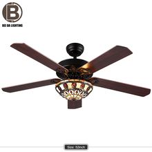 2017 hot 5 blades UL 52 inch fan light 2017 new air cooling electric decorative ceiling fans