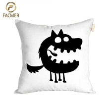 2018 Latest Design Digital Printed decorative Cushion Cover Roaring little monsters throw Pillow Case Cover Children room