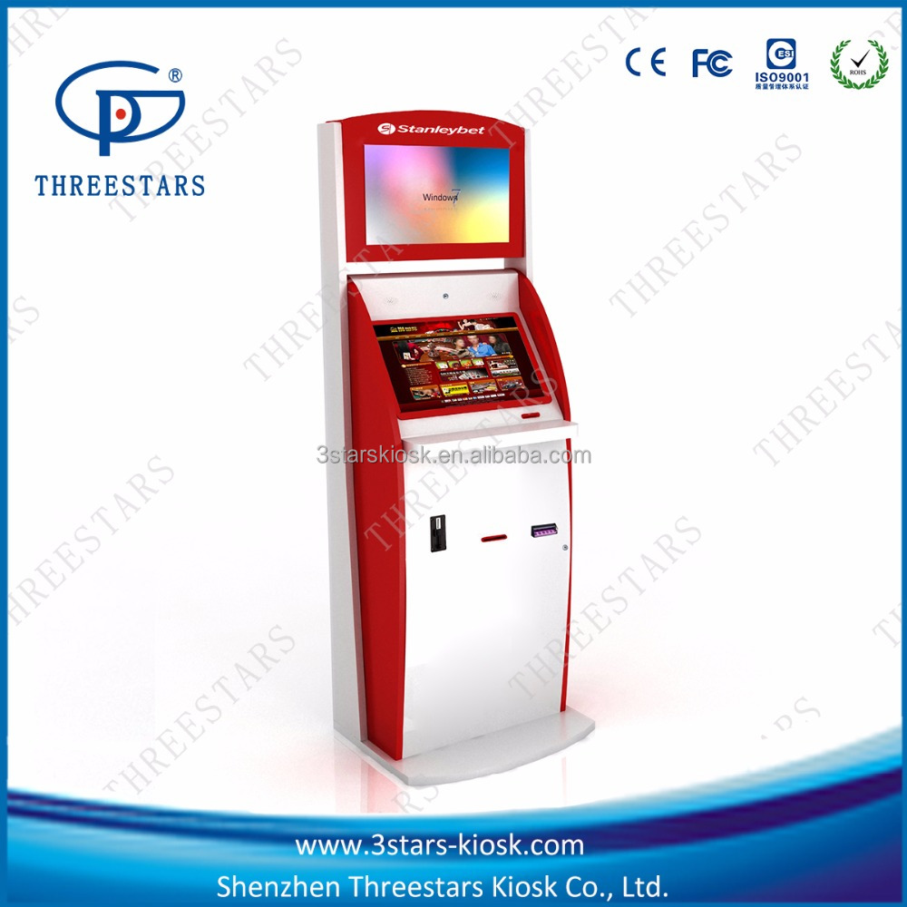 ticket printing kiosk self payment kiosk with company logo