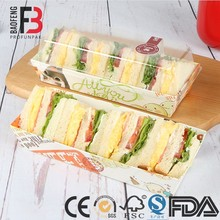 Professional made eco Disposable Food Packaging/Sandwich Box/Disposable sandwich boxes