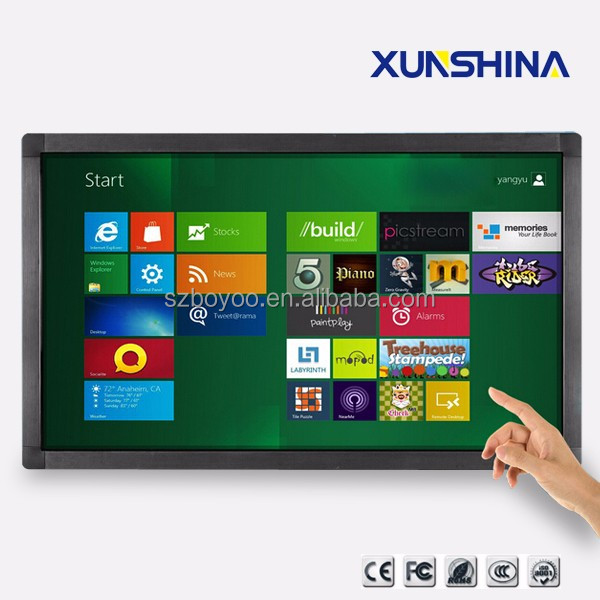 IR touch multimedia kiosk 47 inch lcd touchscreen monitor
