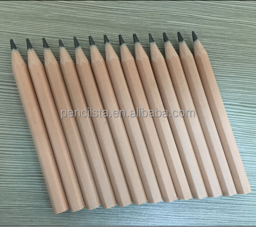 Drawing Natural wood color HB pencil with or without eraser