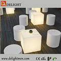 waterproof led cube chair lighting/ cube chair with table/ led office lounge table design