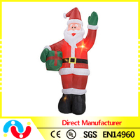 Hot Toys for Christmas 2015 Wholesale Led Color Inflatable Santa Christmas Decoration